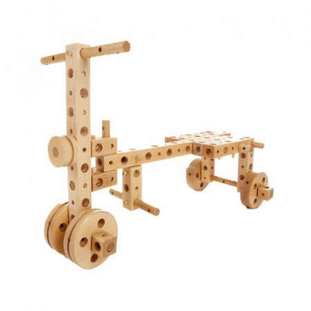 Set constructie mecanica din lemn Pony 01, 120 piese, Pony [3]