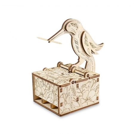 Set constructie mini cu mecanism Puzzle 3D BIRD din lemn 38 piese @ EWA [0]