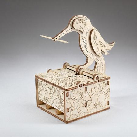 Set constructie mini cu mecanism Puzzle 3D BIRD din lemn 38 piese @ EWA [4]