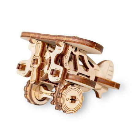 Set constructie mini cu mecanism Puzzle 3D PLANE din lemn 22 piese @ EWA [3]