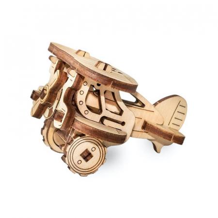 Set constructie mini cu mecanism Puzzle 3D PLANE din lemn 22 piese @ EWA [4]