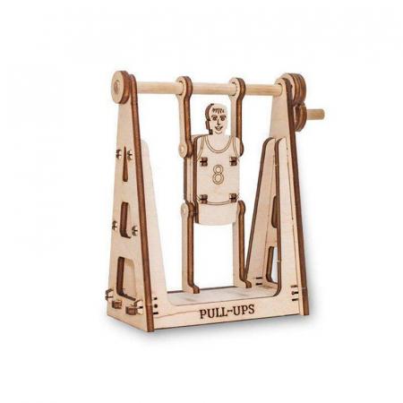 Set constructie mini cu mecanism Puzzle 3D SPINNING SPORTSMAN din lemn 22 piese @ EWA [0]