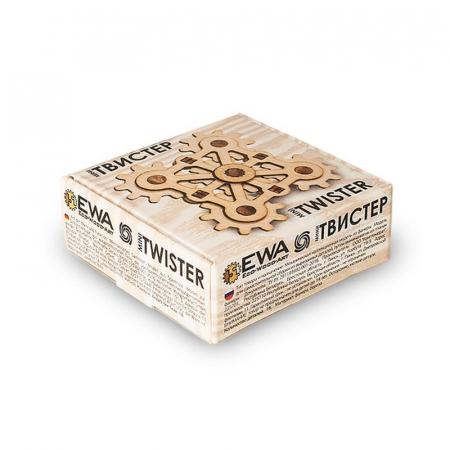 Set constructie mini cu mecanism Puzzle 3D TWISTER MINI din lemn 18 piese @ EWA [2]
