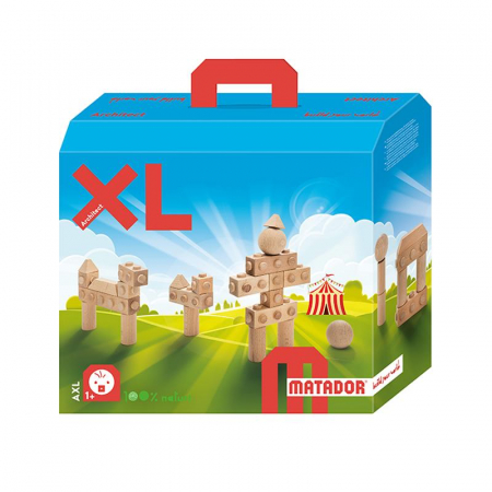 Set cuburi de constructie din lemn Architect XL, +1 an, Matador [0]