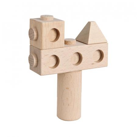 Set cuburi de constructie din lemn Architect XL, +1 an, Matador [2]