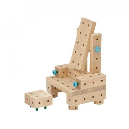 Set cuburi de constructie din lemn Explorer 318 piese, +5 ani, Matador [4]