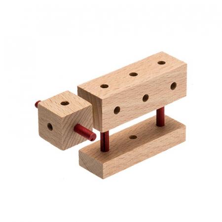 Set cuburi de constructie din lemn Explorer World Country, +5 ani, Matador [3]