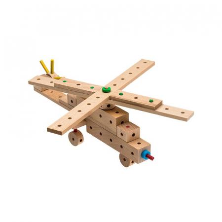 Set cuburi de constructie din lemn Explorer World Planes, +5 ani, Matador [3]