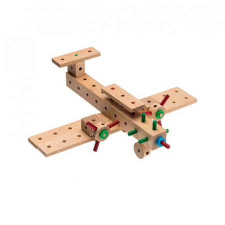 Set cuburi de constructie din lemn Explorer World Planes, +5 ani, Matador [2]