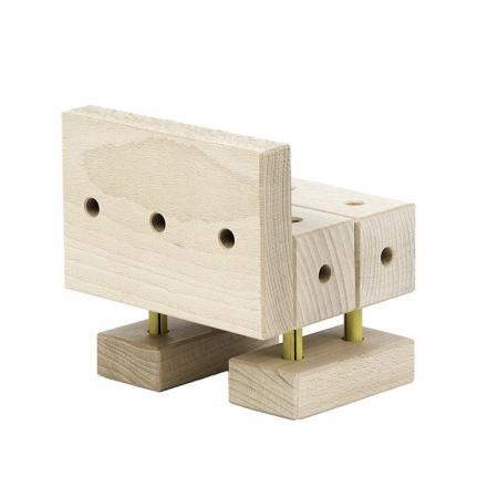 Set cuburi de constructie din lemn Maker 108 piese, +3 ani, Matador [4]