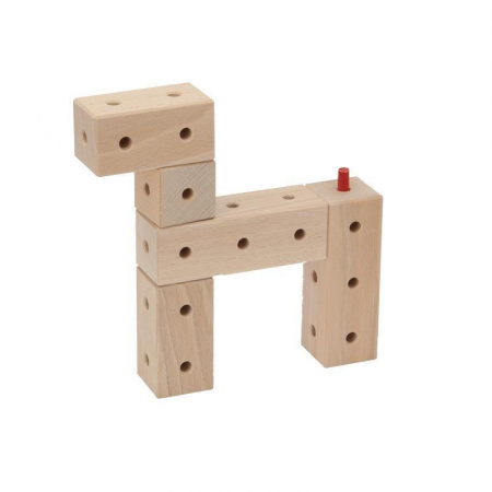 Set cuburi de constructie din lemn Maker 108 piese, +3 ani, Matador [2]
