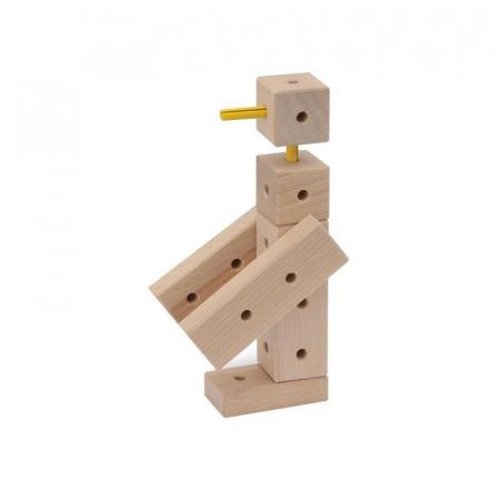 Set cuburi de constructie din lemn Maker 108 piese, +3 ani, Matador [5]