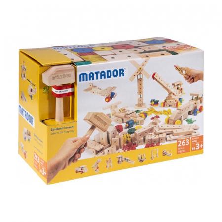 Set cuburi de constructie din lemn Maker 263 piese, +3 ani Matador [0]