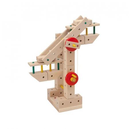 Set cuburi de constructie din lemn Maker 400, +3 ani, Matador [2]