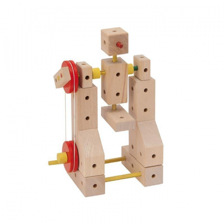 Set cuburi de constructie din lemn Maker 400, +3 ani, Matador [1]