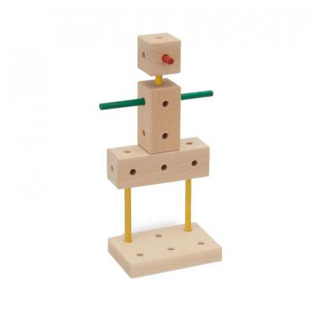 Set cuburi de constructie din lemn Maker 70 piese, +3 ani, Matador [4]