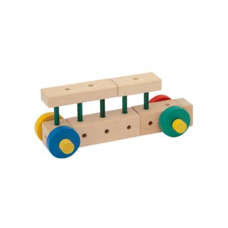 Set cuburi de constructie din lemn Maker 70 piese, +3 ani, Matador [2]