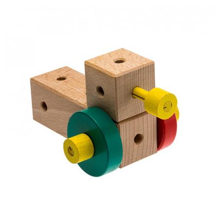 Set cuburi de constructie din lemn Maker World Country, +3 ani, Matador [1]
