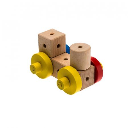 Set cuburi de constructie din lemn Maker World Country, +3 ani, Matador [4]