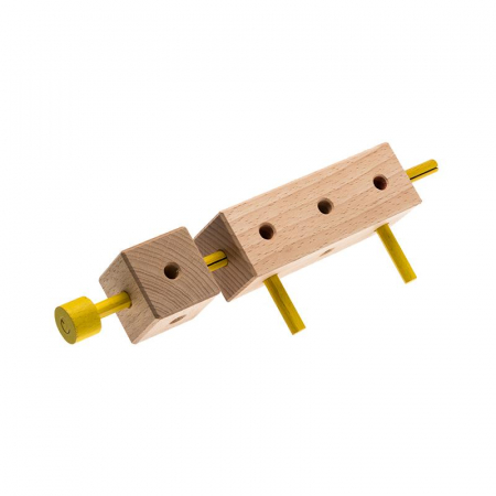 Set cuburi de constructie din lemn Maker World Country, +3 ani, Matador [3]