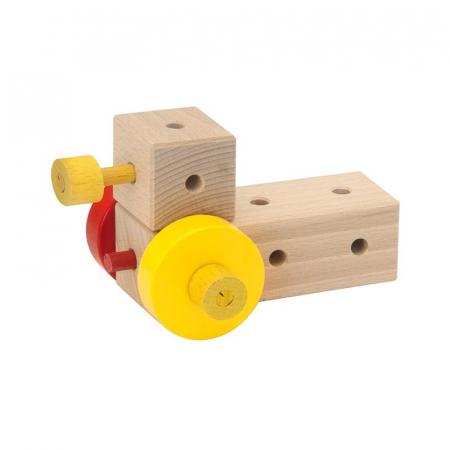 Set cuburi de constructie din lemn Maker XL, +3 ani, Matador [4]