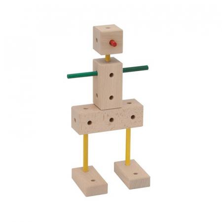 Set cuburi de constructie din lemn Maker XL, +3 ani, Matador [6]