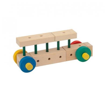 Set cuburi de constructie din lemn Maker XL, +3 ani, Matador [2]