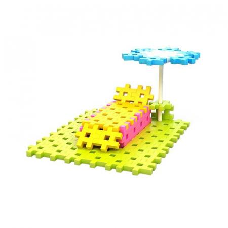 Set de constructie creativa Constructor Pink 600 piese, Meli [5]