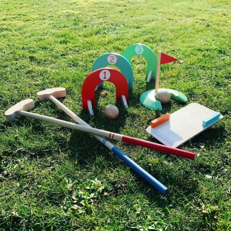 Set mini golf din lemn, 3+ FSC MAMAMEMO [1]