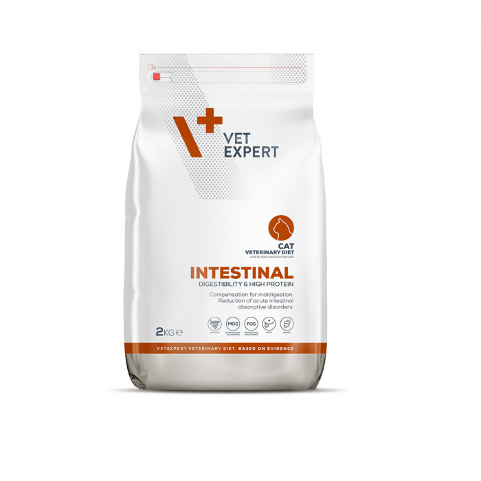 4T Dieta Veterinara INTESTINAL CAT, VetExpert, 2Kg [0]