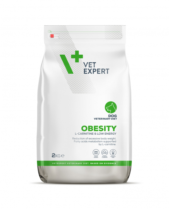 4T Dieta Veterinara OBESITY DOG, VetExpert, 2Kg [0]