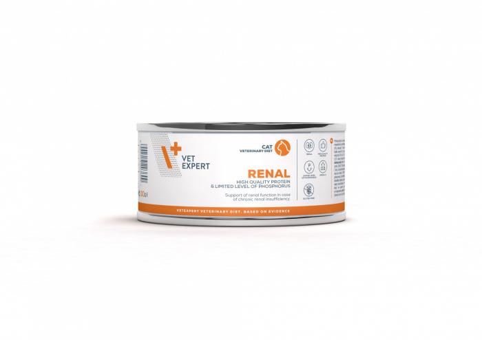 4T Dieta Veterinara pisici Renal Cat, VetExpert, conserva, 100g [0]