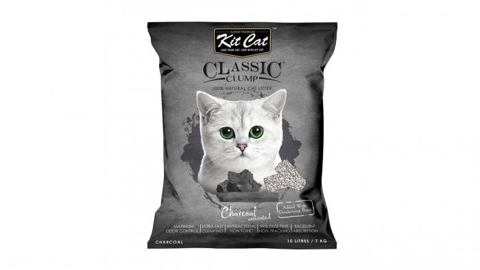 Asternut igienic KIT CAT CLASSIC CLUMP CHARCOAL- 10L [0]