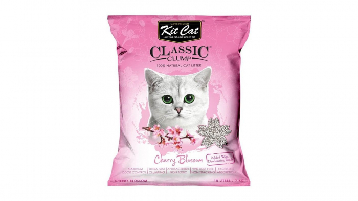Asternut igienic  KIT CAT CLASSIC CLUMP CHERRY BLOSSOM - 10L [0]