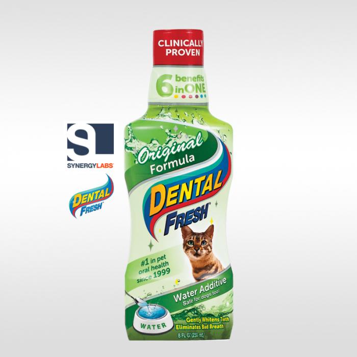 Dental Fresh ORIGINAL FORMULA pentru pisici, Synergy Labs, 237 ml [0]