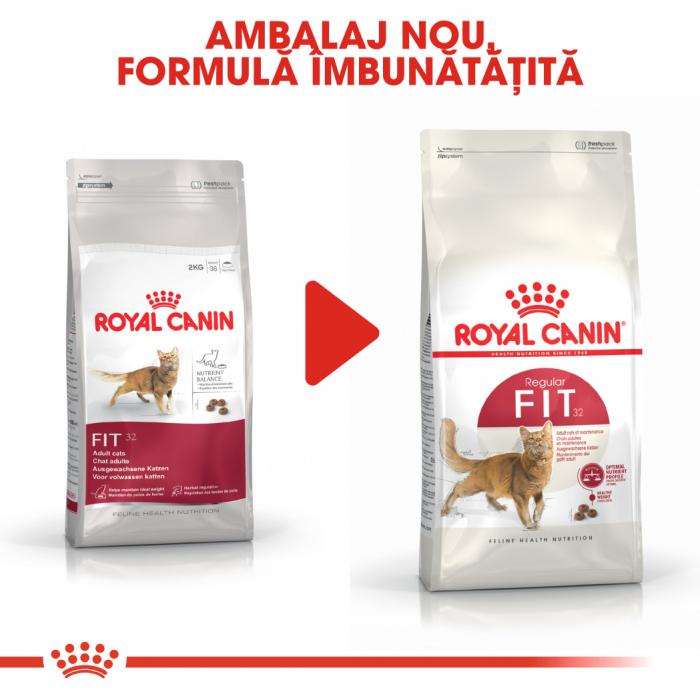 ROYAL CANIN  Fit32 Adult, hrană uscată pisici, activitate fizică moderată, 4 kg [4]