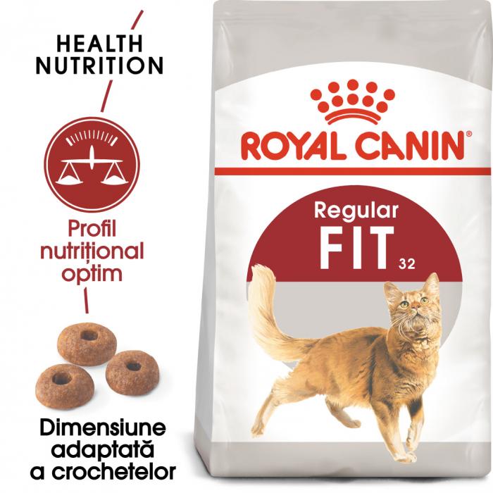 ROYAL CANIN Fit32 Adult, hrană uscată pisici, activitate fizică moderată, 400 g [0]