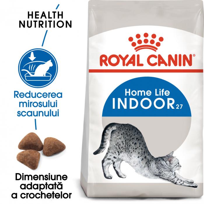 ROYAL CANIN INDOOR, hrană uscată pisici de interior, 400 g [0]