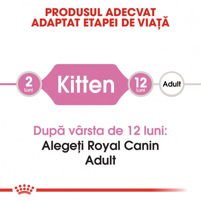 Royal Canin Kitten, hrană uscată pisici junior, 2 kg [1]
