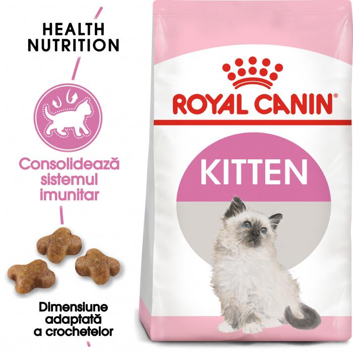 Royal Canin Kitten, hrană uscată pisici junior, 2 kg [0]