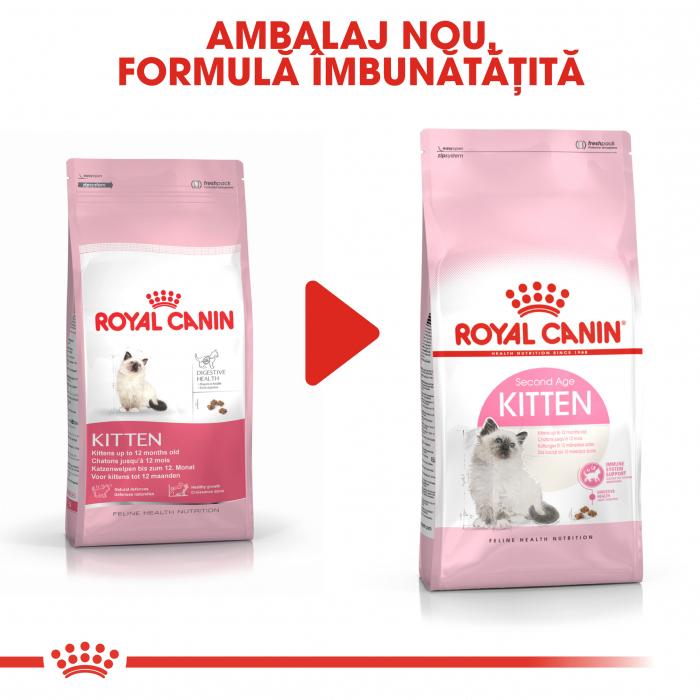 Royal Canin Kitten, hrană uscată pisici junior, 400 g [6]
