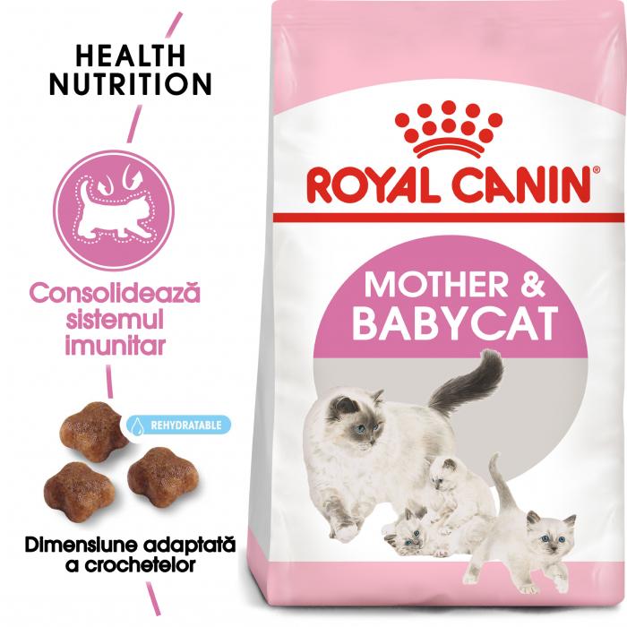 Royal Canin Mother & BabyCat, hrană uscată pisici, mama și puiul 400 g [0]