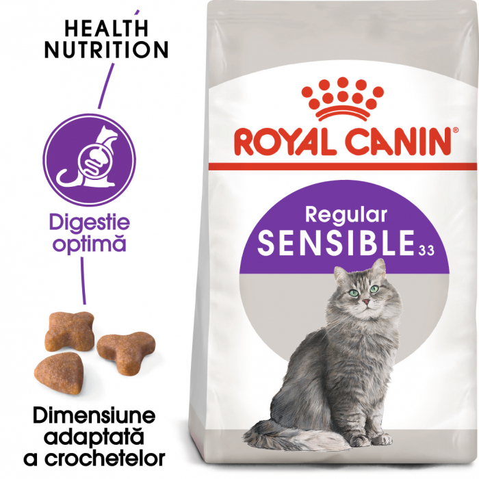 Royal Canin Sensible Adult, hrană uscată pisici, digestie optimă,  2 kg [0]