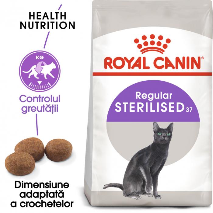 ROYAL CANIN STERILISED,hrană uscată pisici sterilizate, 10 kg [0]