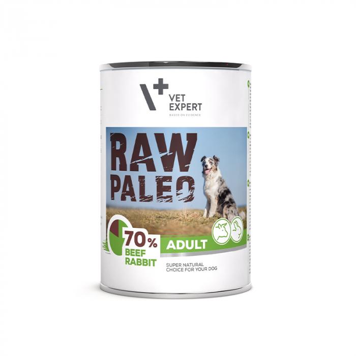 Hrana umeda pentru caini, adult, RAW PALEO, carne de vita si iepure, 400 g [0]