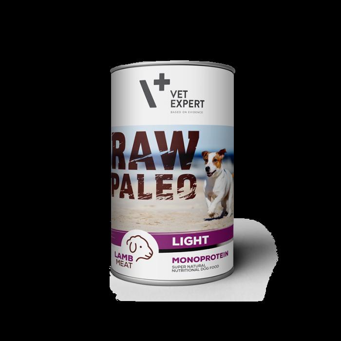 Hrana umeda pentru caini, RAW PALEO Light, conserva monoproteica, miel, 400 g [0]