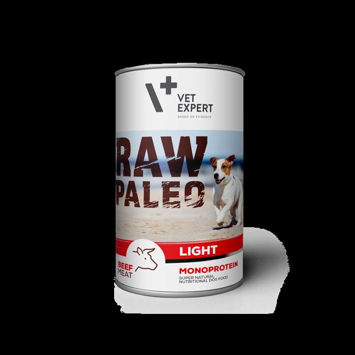 Hrana umeda pentru caini, RAW PALEO Light, vita,conserva monoproteica,  400 g [0]