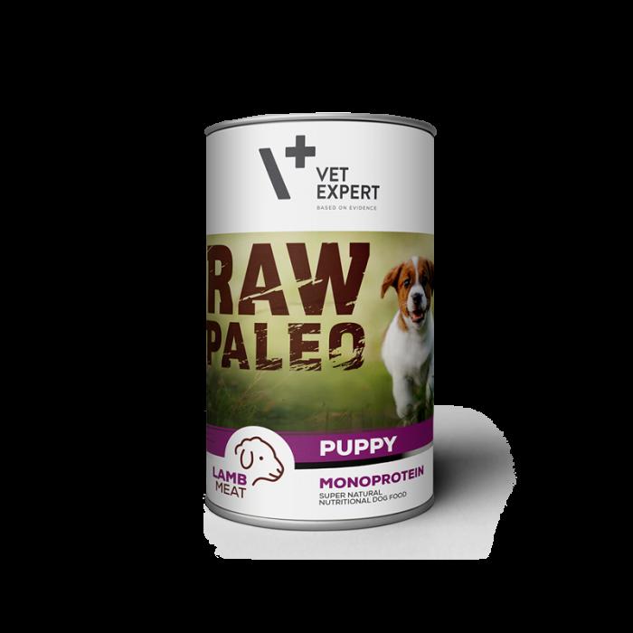 Hrana umeda pentru caini, RAW PALEO Puppy, conserva monoproteica, carne de miel 400 g [0]