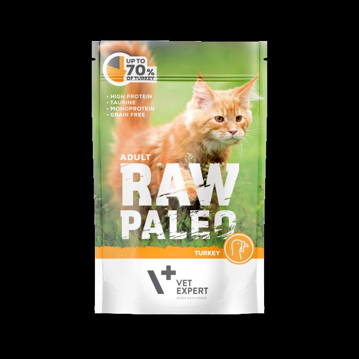 Hrana umeda pentru pisici, RAW PALEO CAT, adult, carne de curcan, 100 g [0]