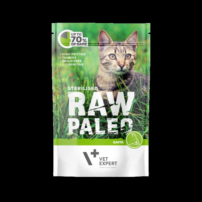 Hrana umeda pentru pisici, RAW PALEO CAT, STERILISED, carne de vanat, 100 g [0]